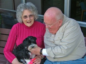Al and Mary Boehly with their Havanese puppy, Daisy